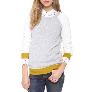 Madewell Waffle Stitch Colorblock Sweater Size XS